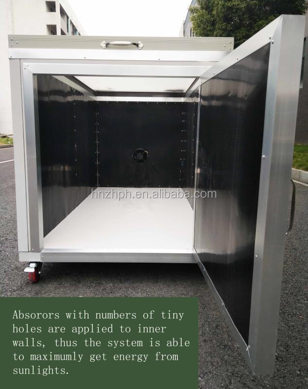 Stainless Steel Mobile Solar Fish Fruit Vegetable Food Dryer Drying Dehydrator Machine