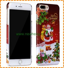 Christmas Gifts Art Printed TPU PC Cell Phone Case for iPhone 7 7Plus
