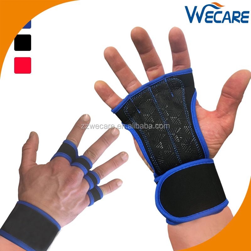 Cross Training Gloves With Wrist Support For Fitness WOD Weightlifting Pull Ups Gym Workout Powerlifting