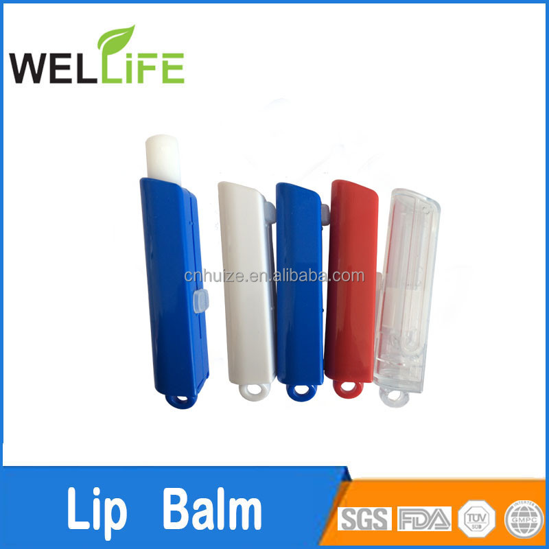 ningbo huize factory promotion Top filling nature organic chapstick tube lip balm chap stick