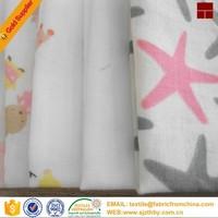 organic muslin fabric 100% cotton fabric double layer cloth