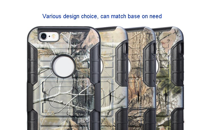 Custom Your Own Pattern Smartphone Cover Ring Robot Case Belt Clip for iPhone 6