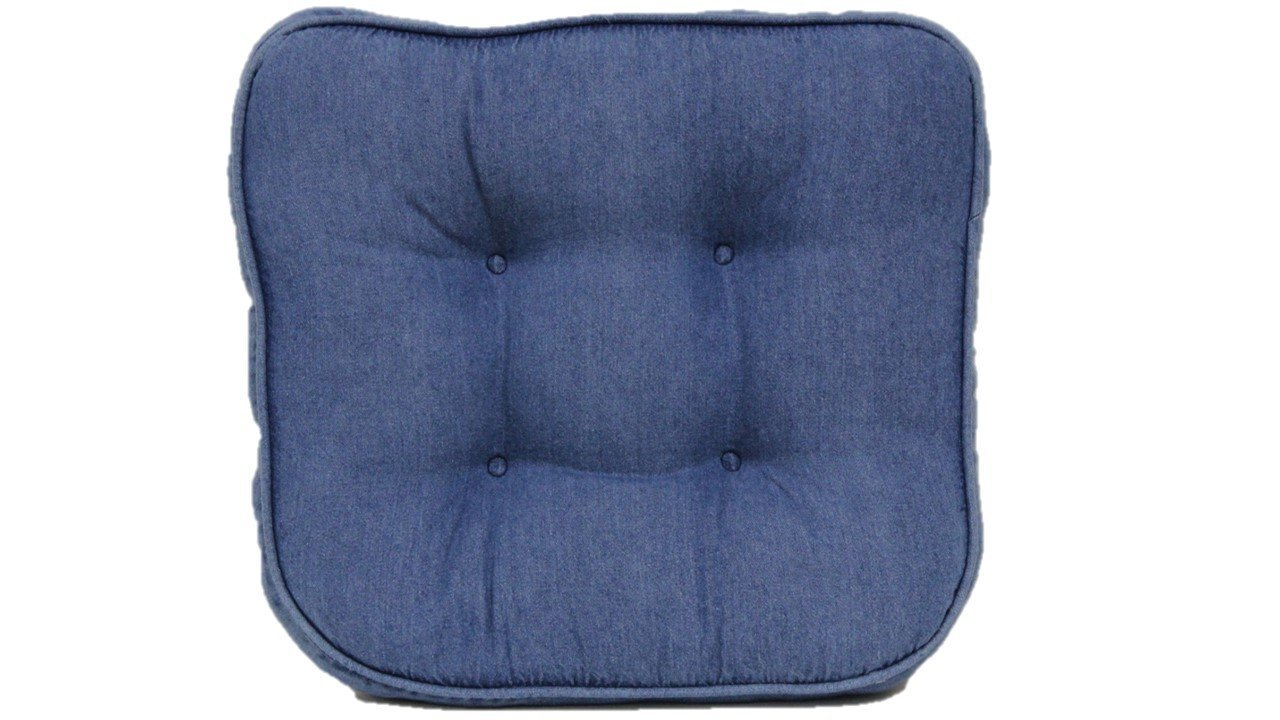 Get Quotations · Brentwood Originals 663 Washed Denim Chair Pad, Blue