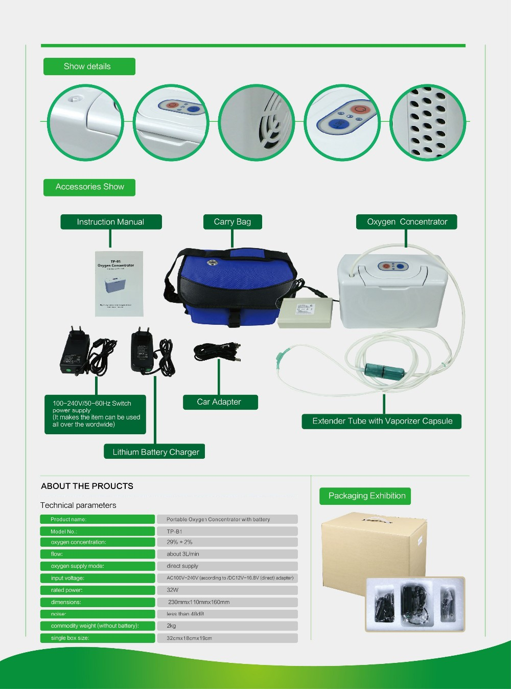 Mini Breathing Machine Portable Oxygen Concentrator With ...