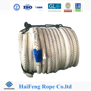 UV resistance Dia 8-18 inch 65mm 12 strand nylon rope for navy ship