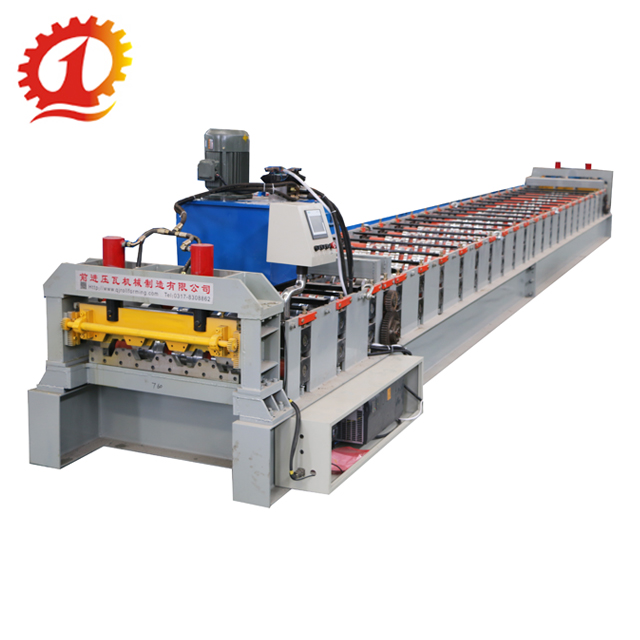 Hoge Prestaties Floor Decking Sheet Roll Forming Machine
