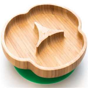 Hot selling bear shaped bamboo dinner plate can hold all kinds of fruit