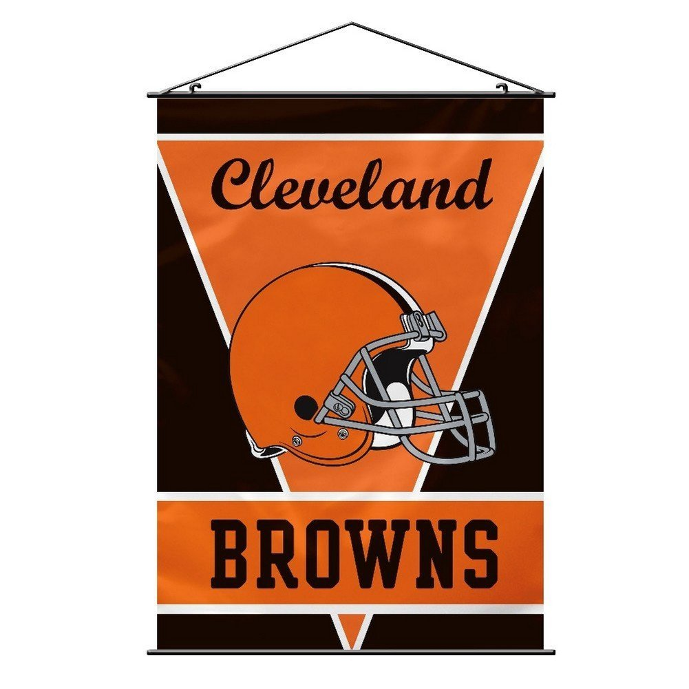 Fremont Die Cleveland Browns 28x40 Satin Polyester Wall Banner