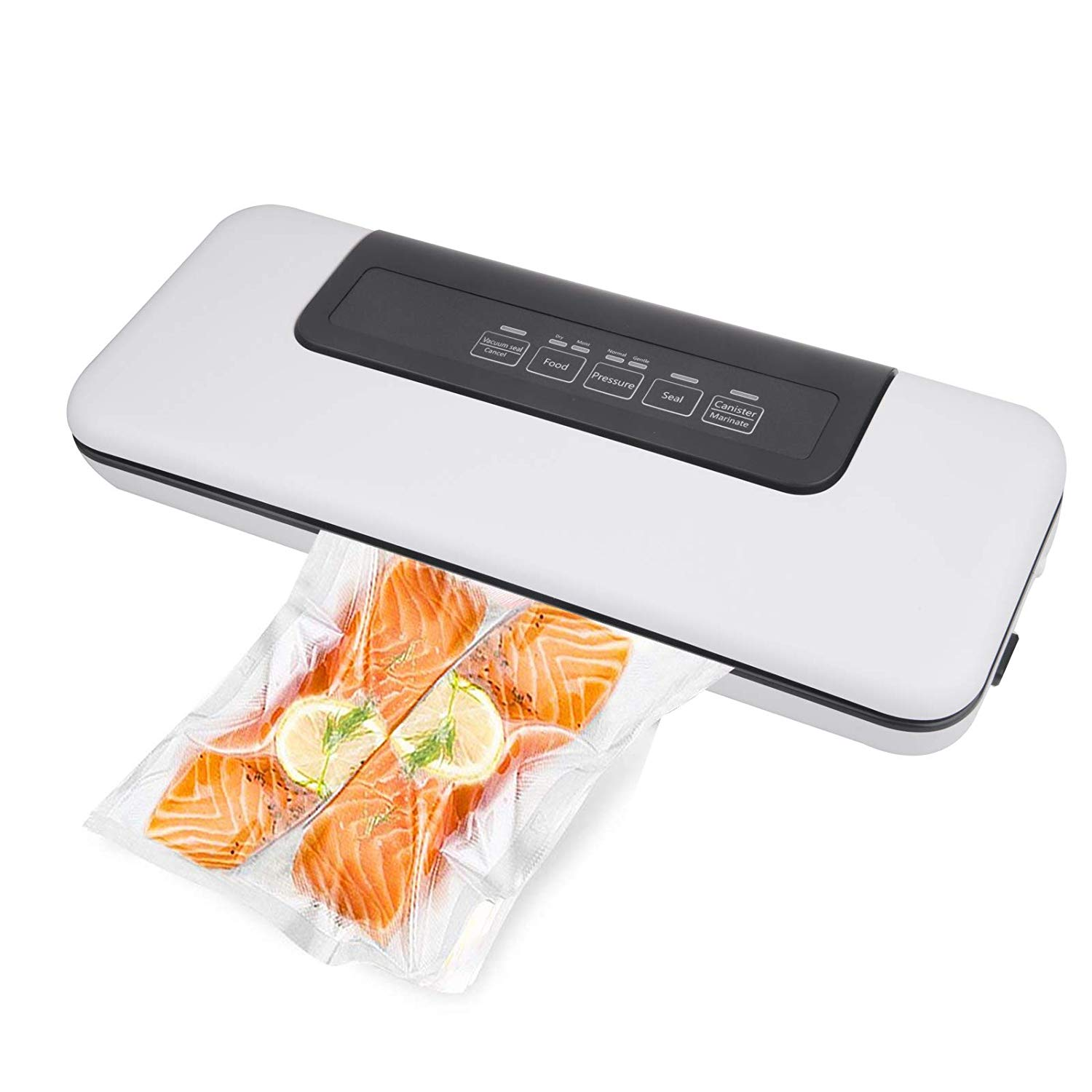 TAKOYI Vacuum Sealer Food Saver Machine, Automatic Sealing System,Multi-function Vacuum Sealer Packer Automatic Vacuum Air Sealing Packing System|Food Preservation Dry, Moist, Delicate Soft Food with 12pcs Vacuum Bags