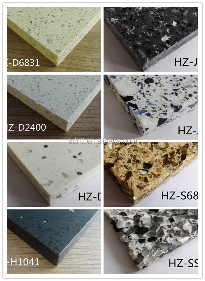 Natural semiprecious artificial quartz stone slabs
