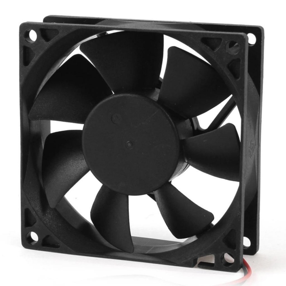 Smart Electronics Hot sale 80mm DC 12V 2pin PC Computer Desktop Case CPU Cooler Cooling Fan