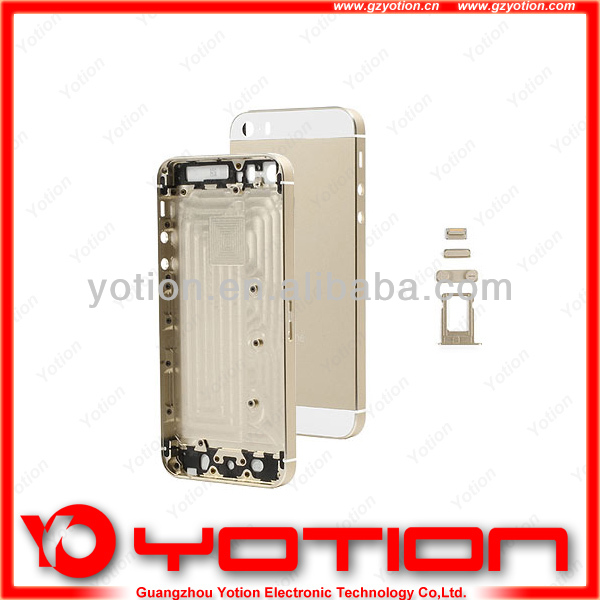 China factory price for iphone 5s gold original back housing