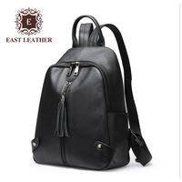 GL1269 Newest Design 2018 Black Genuine Leather Backpack bags with Tassel for ladies