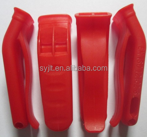 Plastic Prevention Clip On Referee Whistle Marine Rescue Whistle Emergency Survival Whistle