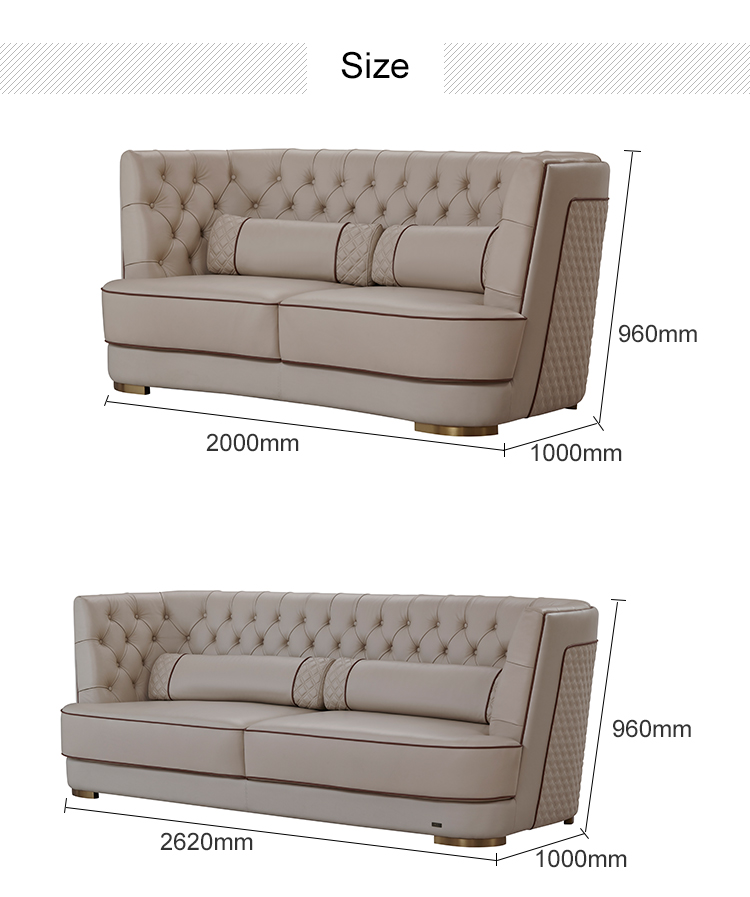 American Style Bedroom Furniture Luxury Sofa Modern Lobby Hotel Furniture Wholesale 4 Seater Sofa