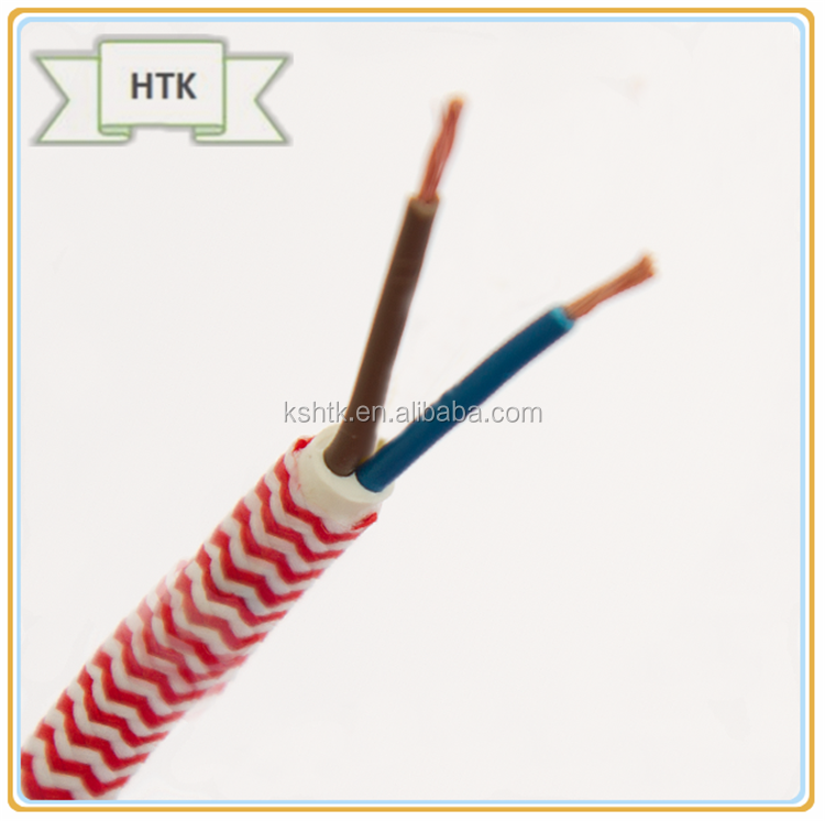 2 Wires/3 Wires Round Braided Textile Electrical Cable/wire/pulley ...