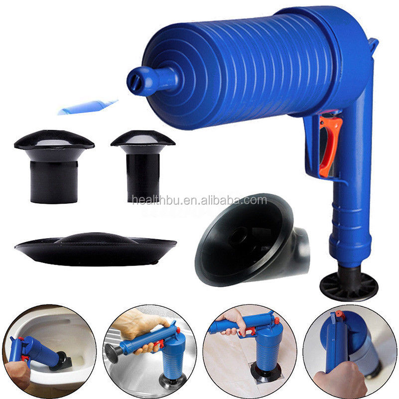 Bathroom Fixtures Honest Air Power Drain Blaster Gun High Pressure Powerful Manual Sink Plunger Opener Cleaner Pump For Toilets Showers For Bathroom Making Things Convenient For Customers