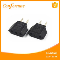 Europe to USA Converter Travel Charger Adapter Plug European Euro to US USA/European to USA plug 2 flat pins auto electric plas