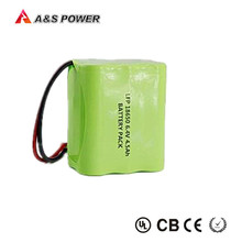 18650 Rechargeable LiFePO4 Battery pack 6.4V 4.5Ah Lithium Iron Phosphate