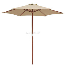9ft Deluxe hard wood Outdoor Patio market Umbrellas and Garden Parasols w/light or dark wood