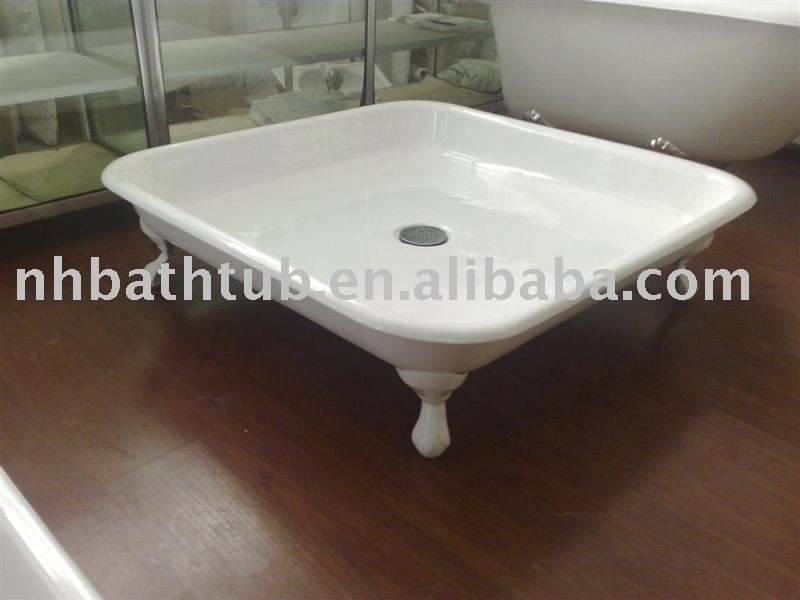 Cast Iron Freestanding Shower Tray   Buy Cast Iron Freestanding Shower  Tray,Elegant Shower Tray,Big Shower Pan Product On Alibaba.com