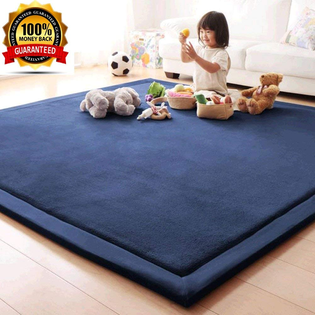 Boys Girls Playing Mat Janpanese Tatami Kids Children Babies Crawling Super Soft Coral Velvet Area Rug Carpet For Living Room Bedroom Dining
