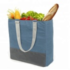 Multi Compartments Protects Delicate Grocery Reusable Insulated Canvas Shopping Tote