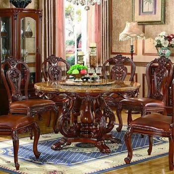 Home furniture dining sets marble table