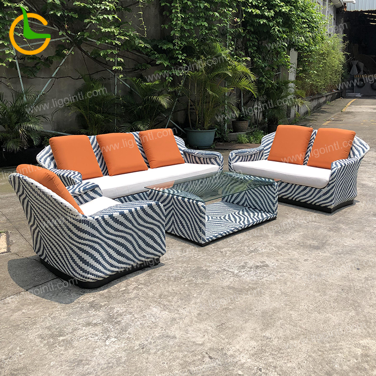 Foshan supplier high quality new design rattan wicker hotel custom furniture