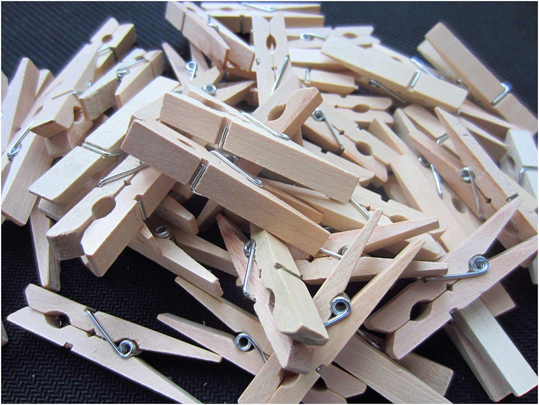 Buy Mini Clothespins For Photos Lebeila Natural Wood Clothespins