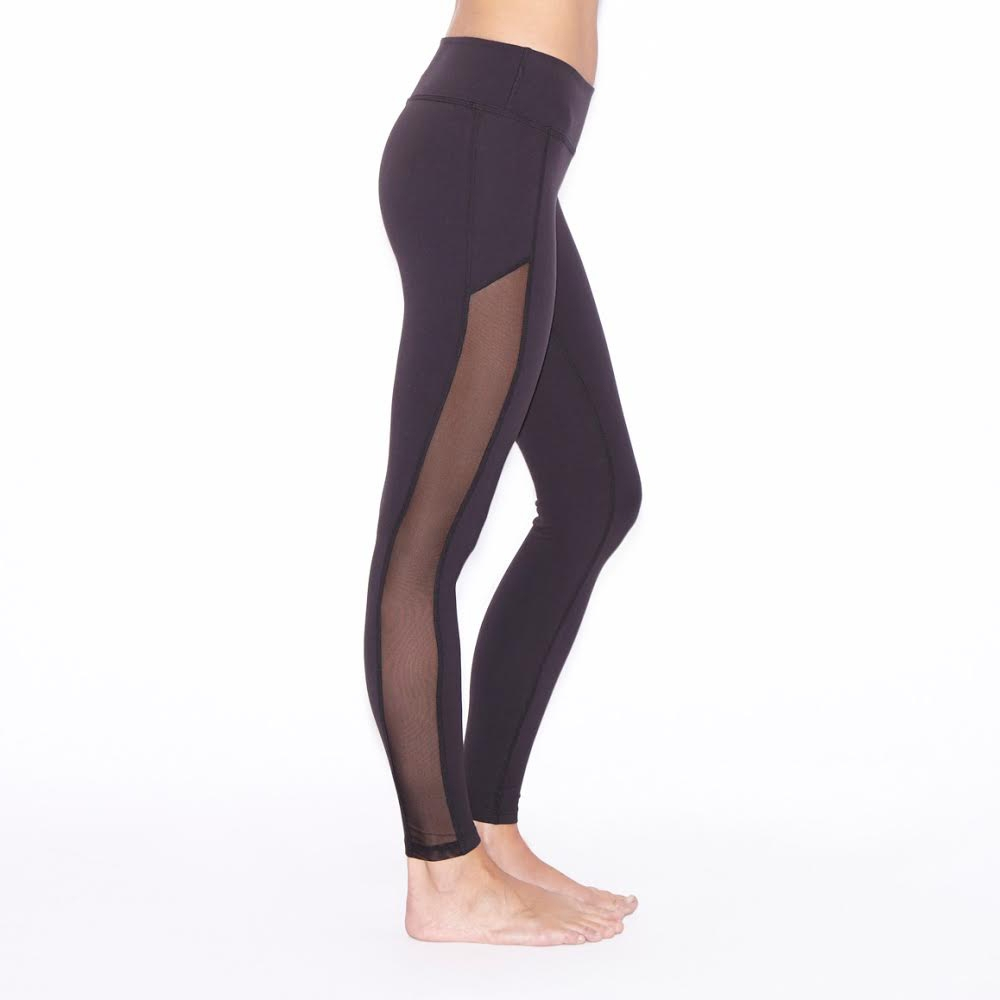 Workout Leggings With Mesh - Trendy Clothes