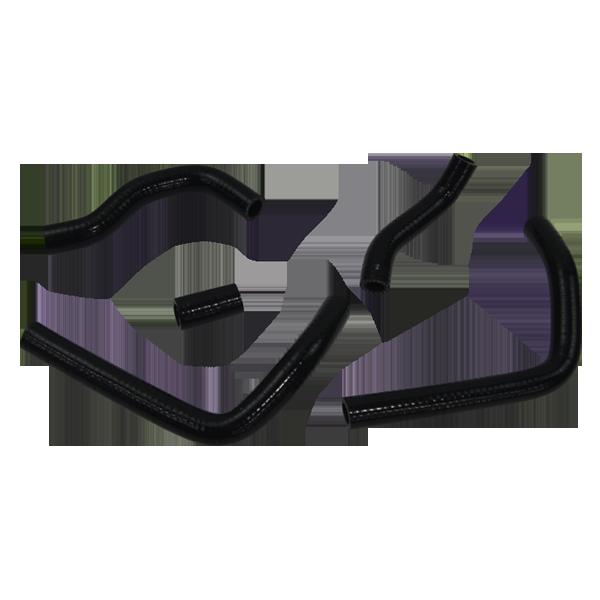 For Honda CR125 R 1998-1999 Silicone Radiator Hose Coolant Pipe Kit Black