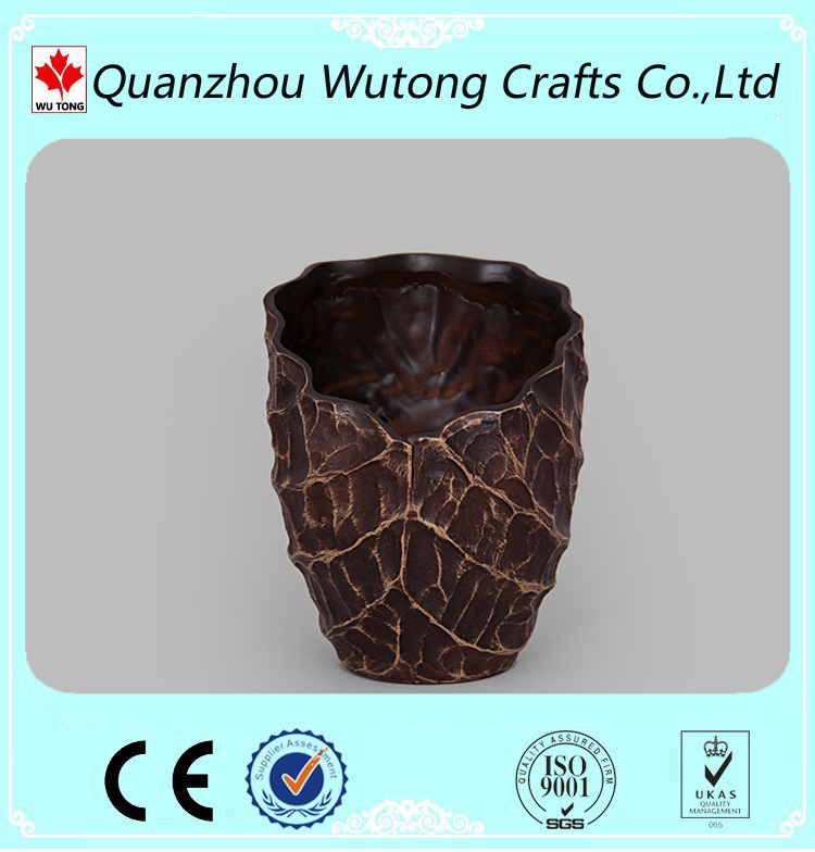 home balcony decoration lotus leaf resin flower vase