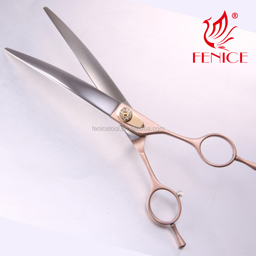 High quality 7 inch 7.5 inch 8 inch curved Pet Grooming Scissors