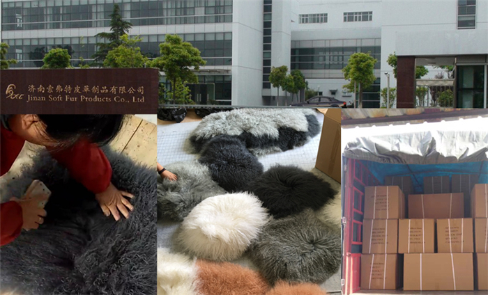 Best selling long curly hair mongolian lamb fur plate