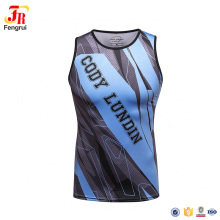 Wholesale Custom Gym Wear Mens Sublimation Full Printing Sleeveless T Shirts