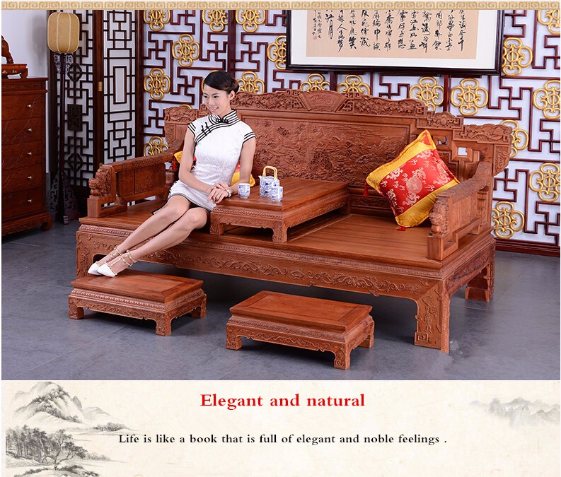 Affordable Vintage Furniture: China Cheap Antique Solid Rosewood Bedroom Furniture Set