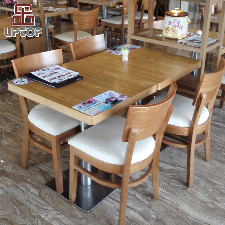 (SP-CS337) Modern dining wood restaurant table and chairs for sale used