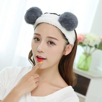 AP32123 Factory direct Korean cute fur ball hair band face wash headband  hair headbands for girls e6cd32c76de