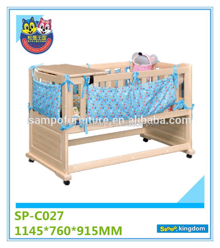 Cute baby cots baby cribs cute design safety and health bedroom furniture SP-C027
