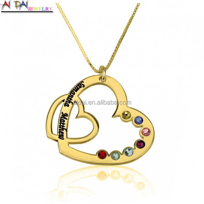 2017 Fashion Women's heart Necklace Pendant Stainless Steel Necklace Unique Design Jewelry Free shipping