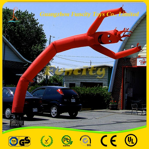 commercial grade pvc tarpaulin wacky inflatable tube man for advertising for sale and rental. Black Bedroom Furniture Sets. Home Design Ideas
