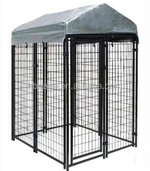 Cheap Indoor Dog Kennels With Top Cover / Wire Mesh Fencing Dog ...