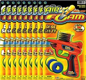 Ja-Ru Air Foam Disc Shot (Party Favor Bundle Pack of 9)