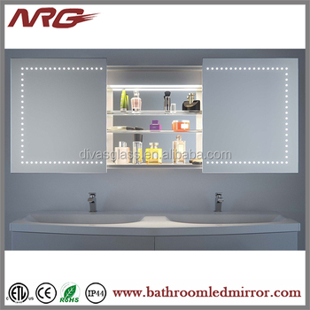 Lighted Mirror Electric Heated Mirror Cabinet