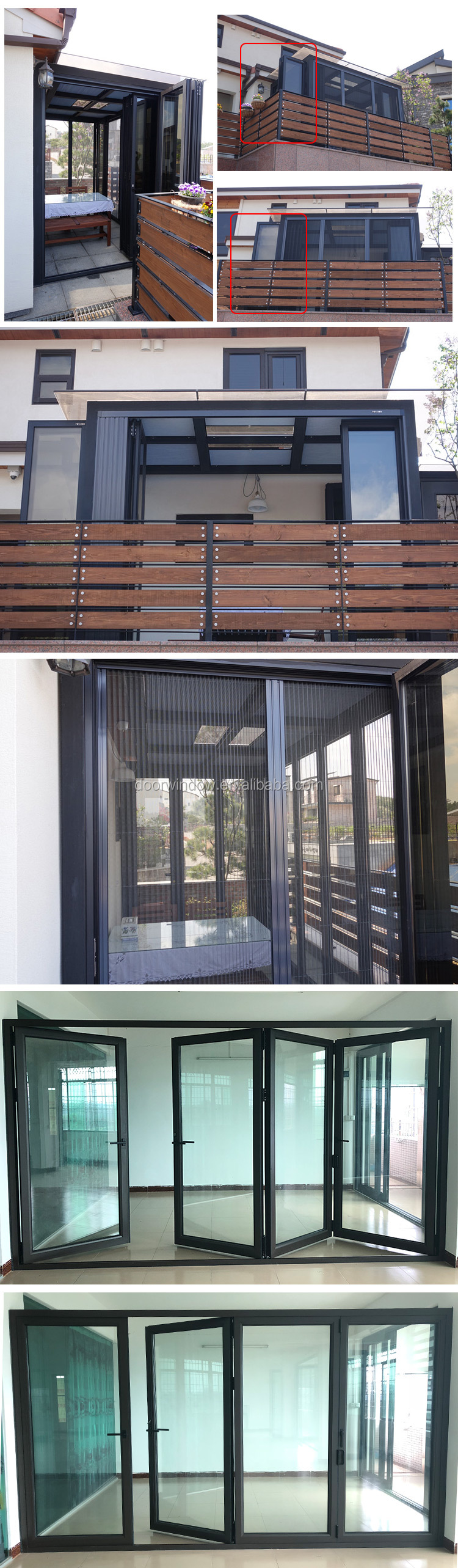 aluminium bifold door glass folding retractable glass doors