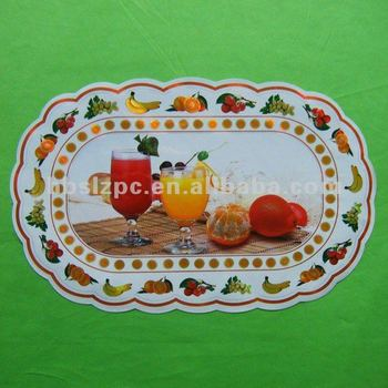 oval white vinyl placemats