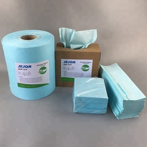 60gsm Sky Blue Super September Industrial Wiping Paper Cloth Roll