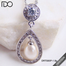 Customize top quality locket pendant silver for pearls
