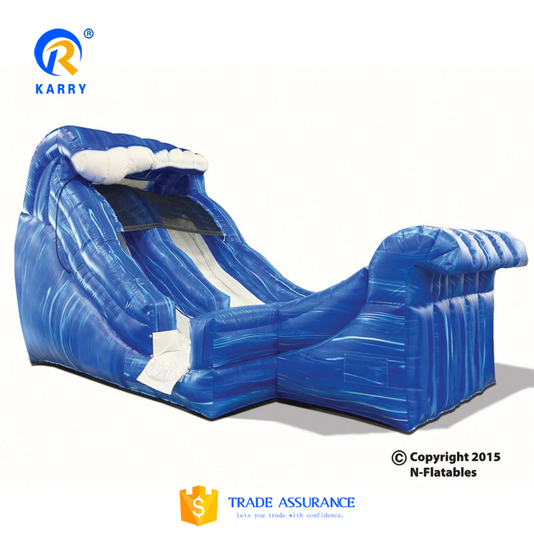 Wild wave mini no background water slide,large commercial water slide,inflatable jumping slide